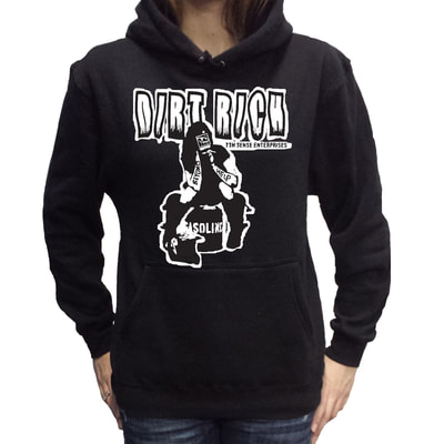 Women's Dirt Rich Pull over hoodie by 7th Sense Enterprises