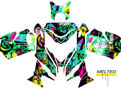 SKI-DOO REV XS WRAPS STICKER KITS GRAPHICS